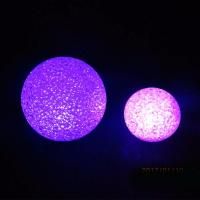 Quality EVA Ball LED Flashing Snowman Christmas Toy 10cm 12cm Diameter For Party Favor for sale