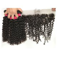 China Peruvian Raw Unprocessed Virgin Human Hair Weave / Jerry Curly Hair Extensions on sale