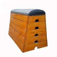 Traditional Kids Gym Pommel Horse / Gym Vaulting Boxes Manchurian Ash Wood Material Manufactures