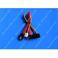 Quality 22 Pin SATA Cable with 3 Pin Power and  Latching SATA Connector for sale