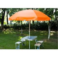 Steel Frame Outside Patio Table Umbrella , Stand Alone Parasol For Garden Manufactures