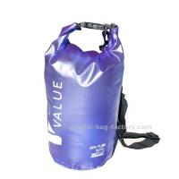 Water-Resistant 10L Blue PVC  Dry Tube Bag , Travel Dry Backpacks with Adjustable Shoulder Strap Manufactures