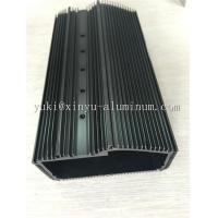 Semi Bright Black Anodized Aluminium Box Aluminum Structural Framing With Tapping And CNC Drilling Manufactures