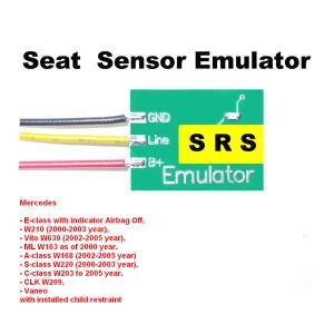SRS3 Mercedes Seat Sensor Emulator with Indicator Airbag Off , Car Repair Troubleshooting Manufactures