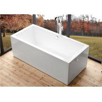 Wide 60 Inch Freestanding Bathtub , Rectangular Freestanding Tub With End Drain Manufactures