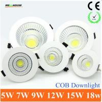 2015 Newest Dimmable LED Recessed Downlight 5W 7W 9W 12W 15W COB Chip LED Ceiling light Spot Light Lamp White/ Warm Manufactures