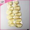 One Donor Healthy End Peruvian Human Hair 6A Natural Virgin Blonde Hair Bundles Manufactures