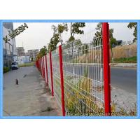 10 Gauge Triangle Curved Metal Fence 3D Wire Mesh Fence Black PVC Coated SGS Approved Manufactures