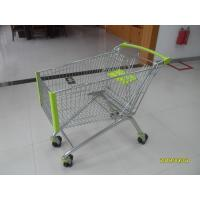 Quality 150L Wire Shopping Carts Supermarket Shopping Trolley With Anti - UV Plastic Parts for sale
