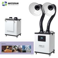 White Digital Display Two Tubes 110v Fume Extractor For Medical Fume And Beauty Fume Manufactures