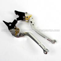 Adjustable Mix Color Motorcycle Long Levers , Folding Brake Lever With High Class Finish Manufactures