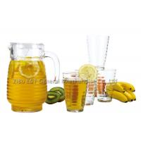 5 Pieces Glass decanter and tumbler set for Juice drinking 1.3L / 10OZ Manufactures