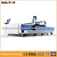 Stainless steel and mild steel CNC fiber laser cutting machine with laser power
