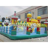Customized Panda Paradise Inflatable Fun City bouncy castle for adults Manufactures