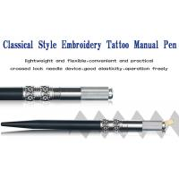 Metal Permanent Makeup Tools Black Manual Eyebrow Tattoo Pen For Cosmetic Beauty Manufactures