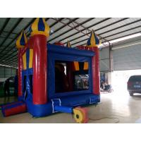 Huge PVC Tarpaulin Inflatable Trampoline For children With Slide In Outdoor / Indoor Manufactures
