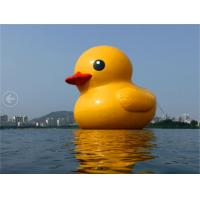 Customized Giant  Inflatable Yellow Duck Inflatable Dark For Advertising / Outside Manufactures
