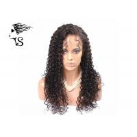 Kinky Curly Brazilian Virgin Human Hair Lace Front Wigs Shedding Free Natural Looking Manufactures