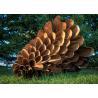 Buy cheap Corten Steel Rusty Pine Cone Sculpture , Modern Metal Landscape Sculpture from wholesalers