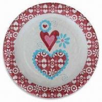 Paper Plate with Color Printing, Various Sizes are Available Manufactures