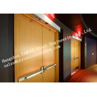 Buy cheap High Refractory Painted Wooden Fire Rated Double Doors Apartment Usage from wholesalers
