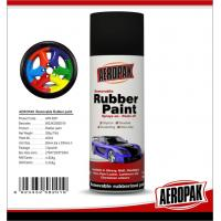 Black 400ml Rubber Based Spray Paint High Gloss Fast Drying And Easy To Remove Manufactures