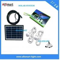 Multi-function portable solar led light 2 bulb with mobile phone charger solar home kits indoor lighting Manufactures