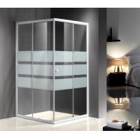 Serigraphy Glass Shower Enclosures With 10Cm Adjustable / White Painted Profile Manufactures
