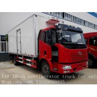 10 tons FAW Jiefang 4x2 mobile cold room trucks for sale, FAW brand 4*2 LHD 10tons refrigerated van truck for sale Manufactures