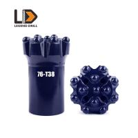 Quality Threaded bits T38-76mm Button bit, flat face and dome Nine buttons, three front for sale