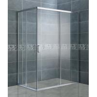 China Clear Tempered Glass Rectangular Shower Enclosure Matte Sliver Bathroom Shower Cubicles on sale