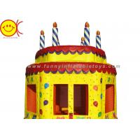 0.55mm PVC Birthday Cake Inflatable Bounce House Jumper Combo Bouncer For Kids