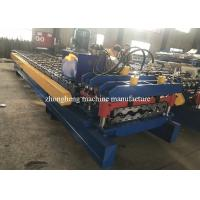 PPGI Steel Roof Panel Roll Forming Machine / Corrugated Sheet Roll Forming Machine Manufactures