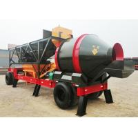 Electric Control Mobile Concrete Plant 72s Mixing Circle 1300mm Discharging Height Manufactures