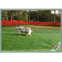 Residential / Commercial Landscaping Pet Artificial Turf With Monofil PE Curly PPE Materal Manufactures