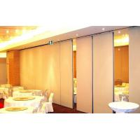 Aluminium Alloy Melamine Surface Folding Partition Walls , Interior Hotel Soundproof Room Dividers Manufactures
