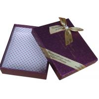 Pink / Purple 8 * 8 * 4 Inch Paperboard Chocolate Packaging Boxes With Lid And Bow Manufactures