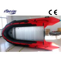Red PVC Foldable Inflatable Boat Aluminum Floor Inflatable Boats CE / ISO Manufactures
