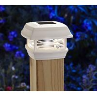 Quality Waterproof Green Solar Post Cap Lights 4x4 , Solar Powered Lamp Post Lights for sale