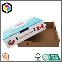 Quality Lid and Base Custom Color Print Paper Corrugated Cardboard Box for Fruit Cherry for sale