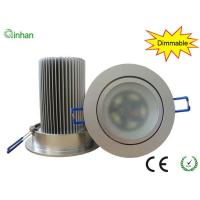 Aluminum and glass 15W AC110 / 220V dimmable LED downlights fixture with 2 years warranty Manufactures