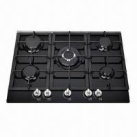 Gas, Built-in Hob with 5 Burners, Stainless Steel Material, 60,000 Pieces/Month Capacity Manufactures