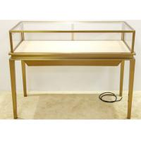 Luxury Jewelry Display Cases Stainless Steel Tempered Glass Material Manufactures