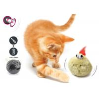 Electronic Auto Motion Bouncing Battery Operated Pet Toys With Plush Cover Manufactures