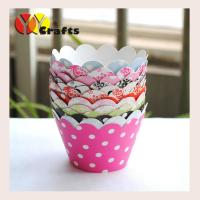 China Party cupcake wrappers printed patterns muffin cake cupcake containers on sale