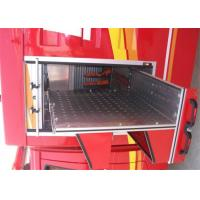 Silver Aluminum Fire Truck Vertical Tray For Special Vehicles Manufactures