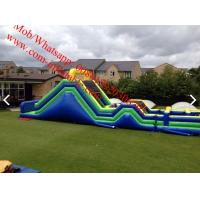 Giant 135 foot  inflatable assault obstacle course Manufactures