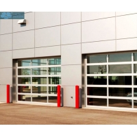 Remote Control Aluminum Alloy Glass Sectional Garage Door Manufactures