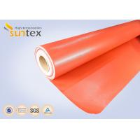 Quality Red Silicone Coated Fiberglass Fabric Fire Barrier Fabric For Heat Resistant Insulation for sale