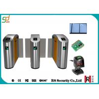 304 / 316 Stainless Steel Speed Gates RFID Counter Sliding Turnstile Manufactures